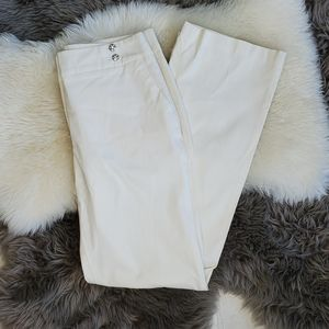 4/$25 Willi Smith Cream high waisted trousers 8